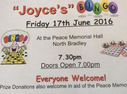 Joyce's bingo 16