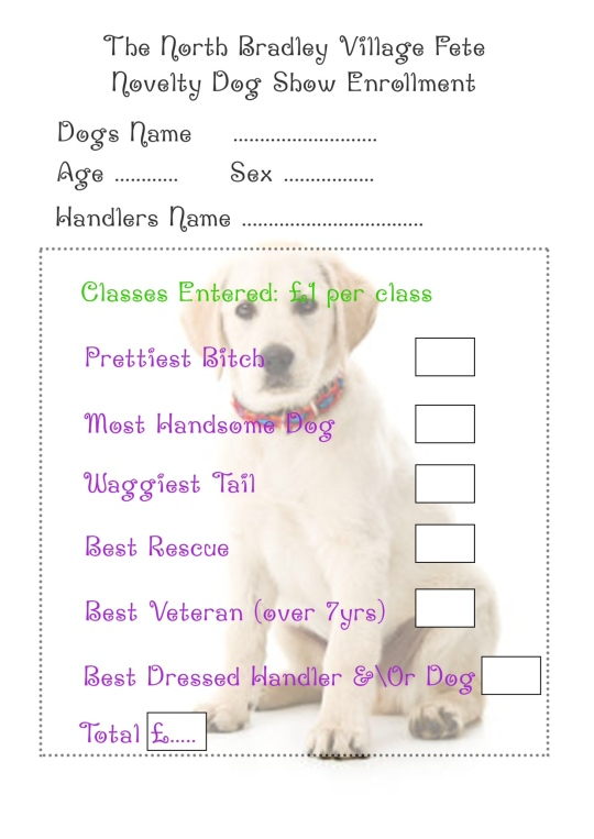 dog show entry form