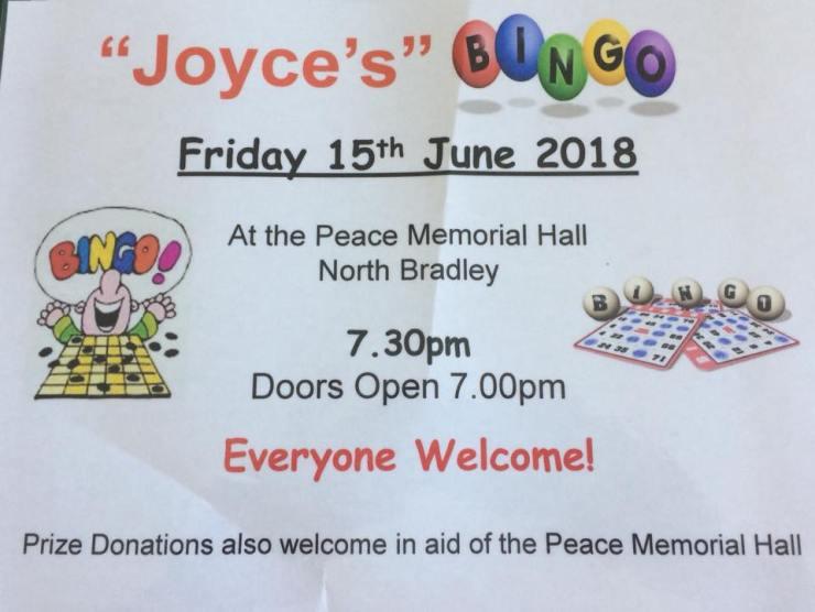 Joyce's Bingo 2018